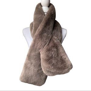 Martha Stewart Faux Fur Pull-Through Stole Scarf
